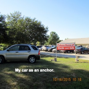 My car as an anchor