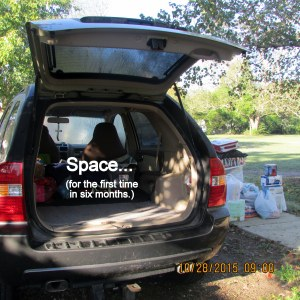 Space in the back of my car