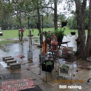 Still raining