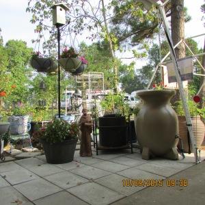 Rain barrels and planters
