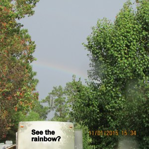 Rainbow over my trailer