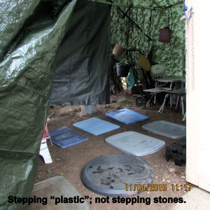 Stepping plastic