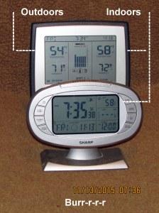 Temperature at seven-thirty