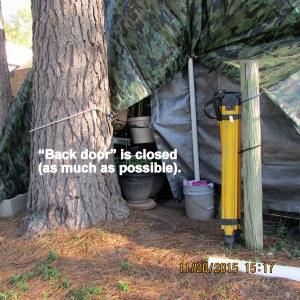 Back door is closed