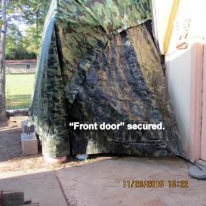 Front door closed