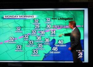 Freeze temperatures defined