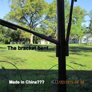 Bent bracket