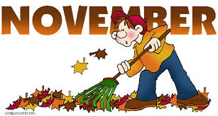 November raking leaves