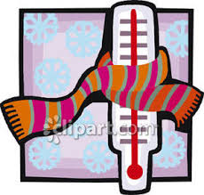 Thermometer with scarf