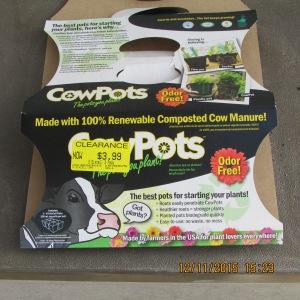 Cow pots