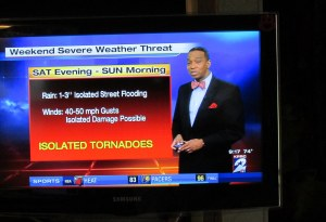 Threat of tornadoes