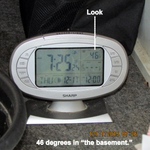 Temperature in the basement