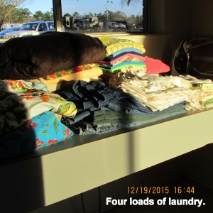 Four loads of laundry