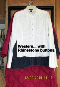Western shirt with Rhinestone buttons