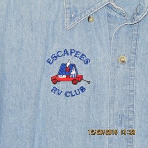 Escapees emblem on shirt
