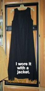 Long black sleeveless shift