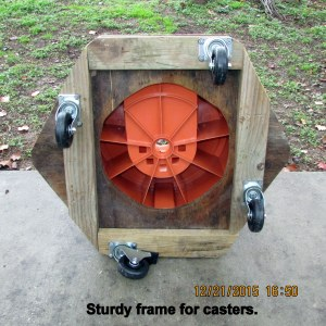 Sturdy frame for casters