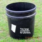 Two large planters