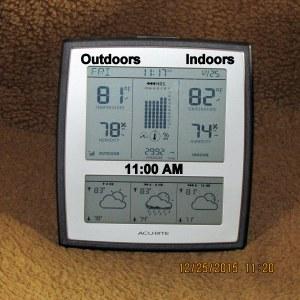 Temperature at eleven
