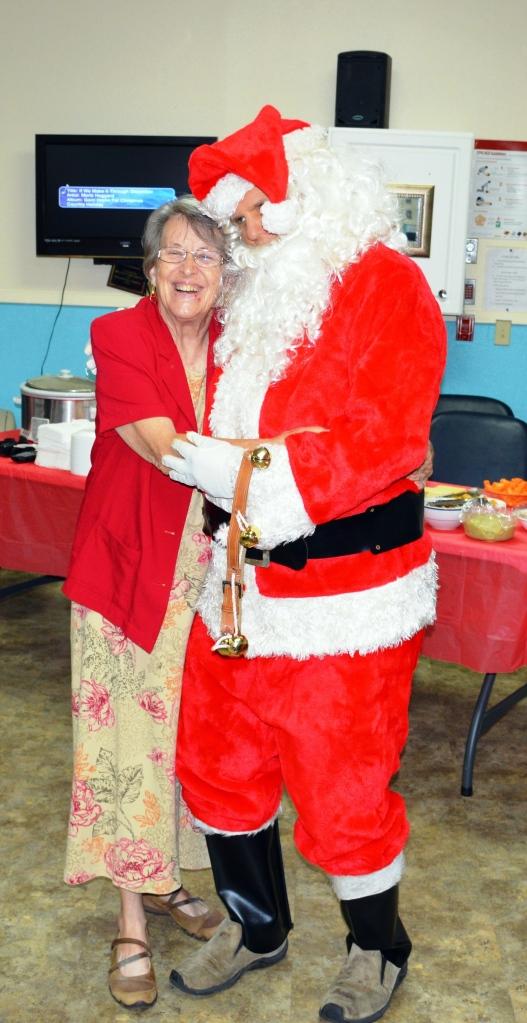 Lorraine and Santa