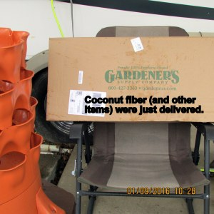 Coconut fiber arrived