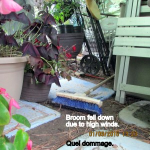 Broom fell down