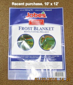 New frost blanket