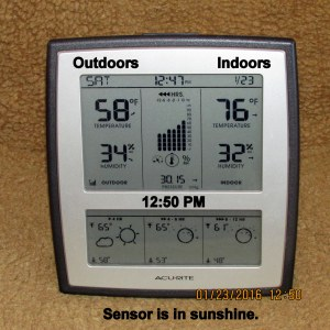 Outdoors-Indoors temperature