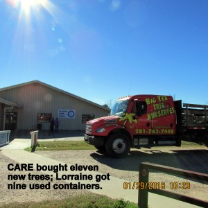 Tree truck in front of CARE