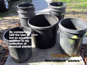 Nine new (used) planters