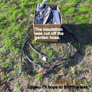 Insulation cut off hose
