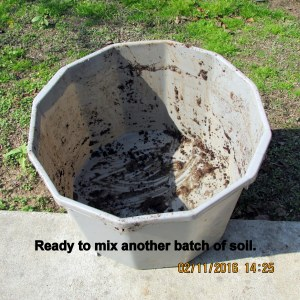 Ready to start a new batch of soil