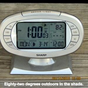 Temperature at one