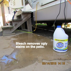 Bleaching ugly stains
