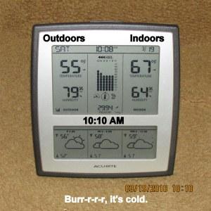 Temperature at ten-ten