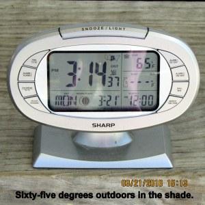 Temperature at three-fourteen