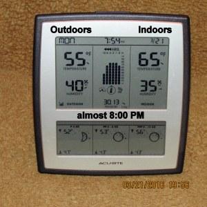 Temperature almost eight
