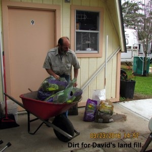 Bags of dirt for David's land fill