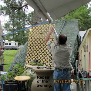 Repair of awning support