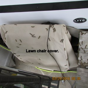 Lawn chair cover