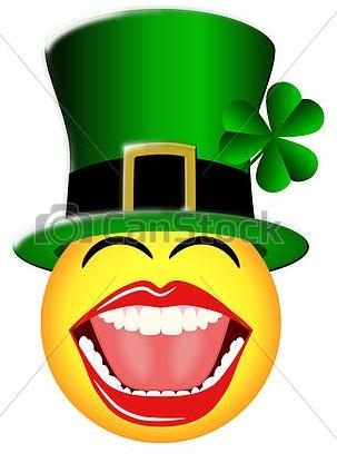 Smiley Face with St Patrick's Day green hat