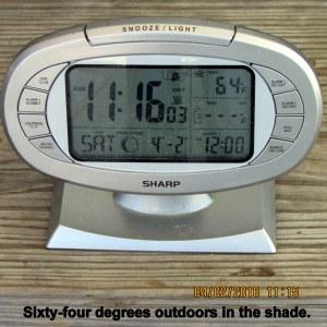 Temperature at eleven-sixteen
