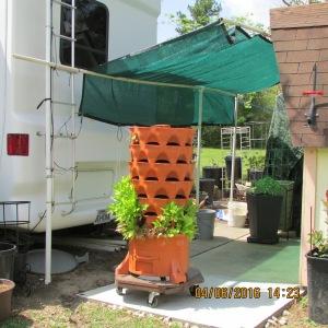 Shade for Garden Tower
