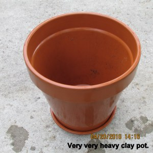 Clean clay planter