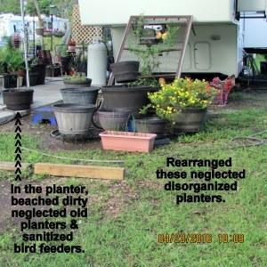 Rearranged planters