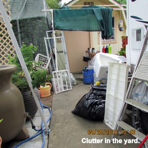 Clutter in the yard