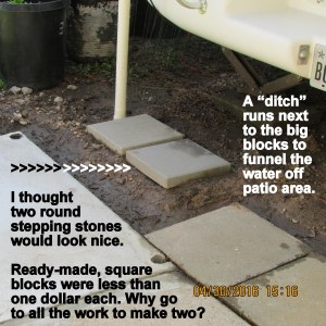 Two square stepping stones