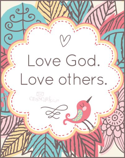 Love God, love others (poster)
