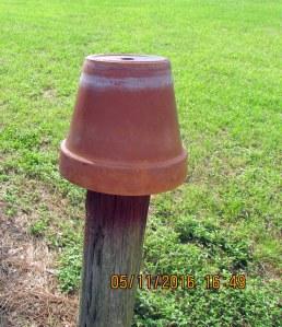 Clay pot ready for spray paint