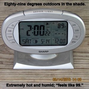 Time and temperature at two